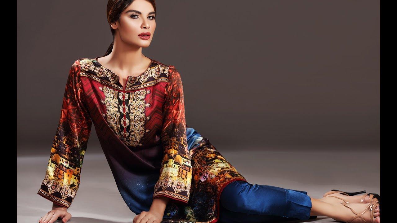 Sana Safinaz Silk Tunics Collection for Girls - YouTube