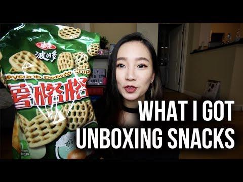 媽媽從台灣扛來的♥♥ 零食庫又補貨啦!!! | Unboxing Snacks