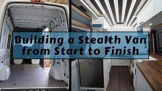 How I Converted Sprinter Stealth Van - Radiant Floor Heat, Murphy Bed, Solar Deck, Indoor Shower