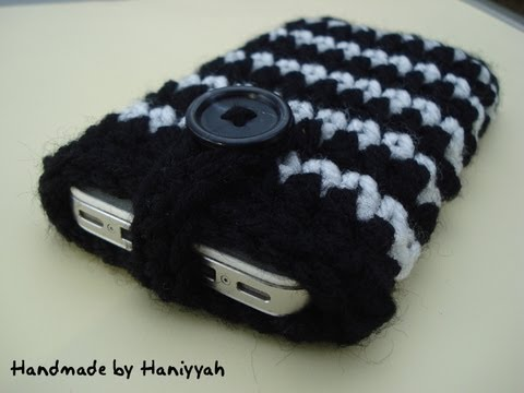Crochet Pattern Cell Phone Cover Case Cozy Youtube