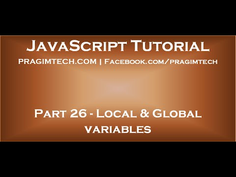 Local And Global Variables In Javascript