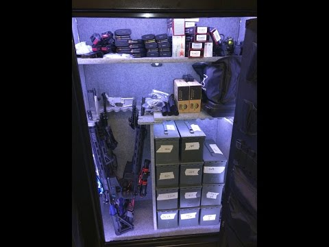 How to light your gun safe DIY and Parts list!! Motion sensing onoff