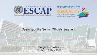 CS74: Opening of the Senior Officials Segment