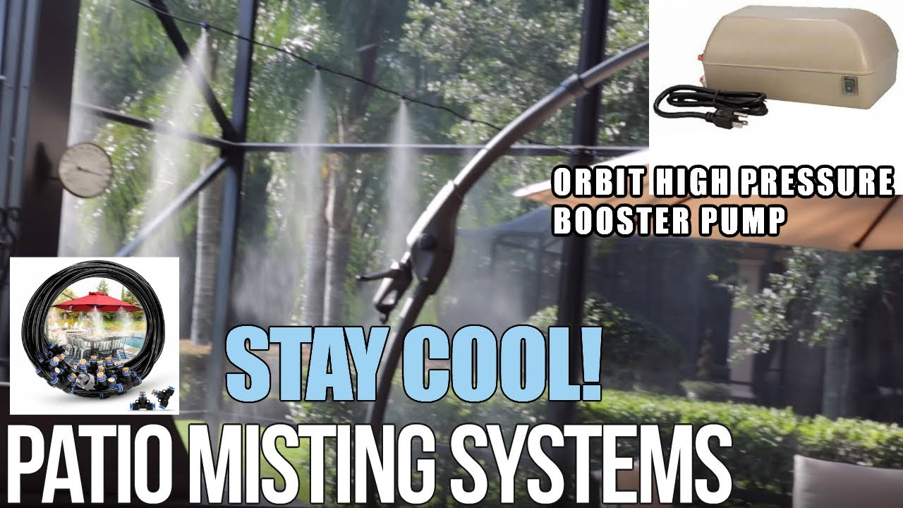 orbit high pressure misting pump keep your patio cool misting system