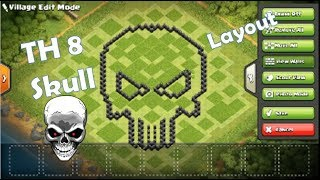 Most Pleasing TH 8 Base👌   Skull   Clash Of Clans   TechSolver   2019