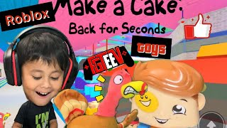 Fgteev toys gurky turkey and funnel boy play ROBLOX with LITO! And get EATEN!! By big head.