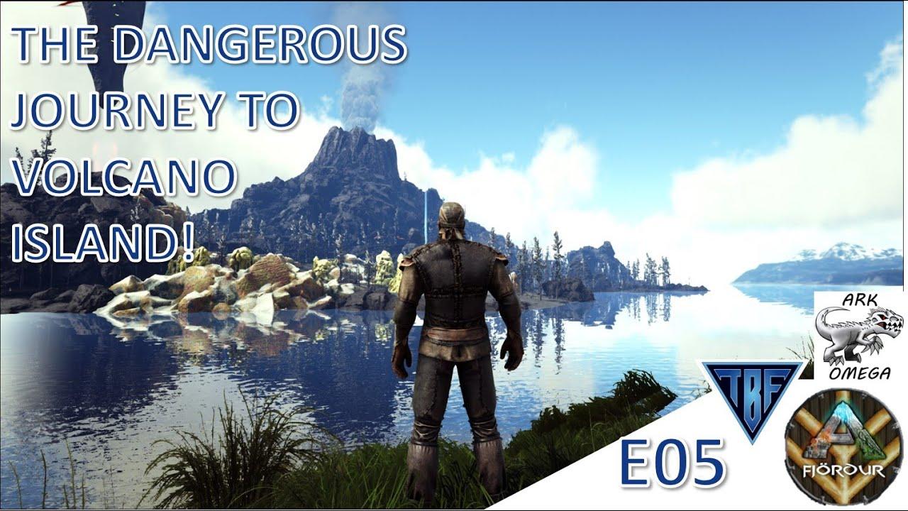 Volcano Island was too dangerous!  Fjordur Map & Ark Omega Mod!! E05