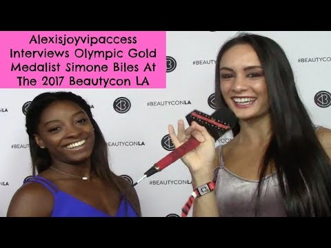 Olympic Gymnast Simone Biles Talks About Her Movie - Interview Alexisjoyvipaccess - Beautycon LA