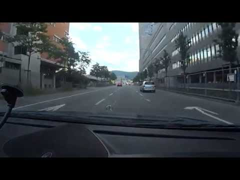 Driving from Zürich city to A1 (direction Bern) ZH / 06.2014/ FullHD