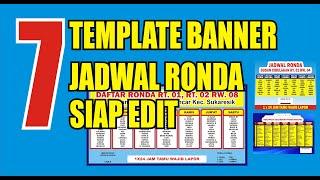7 Contoh Banner Jadwal Ronda Dan Cara Edit Templatenya Mudah Dan Praktis 5 Menit Jadi