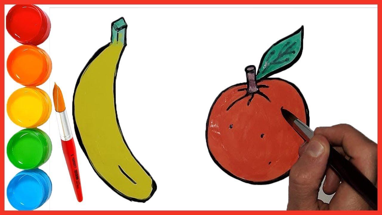 Meyve Boyama Ve Cizimi Cocuklar Renkleri Ogreniyor Muz Bisbis