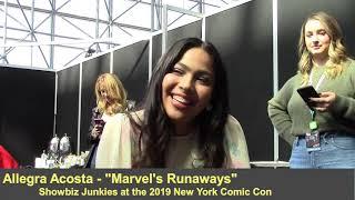 Marvel's Runaways - Allegra Acosta Interview, Season 3
