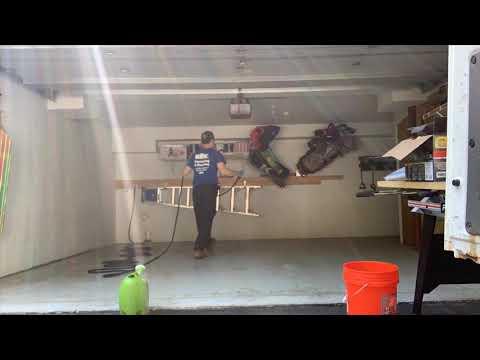 DIY Vlog | Garage Floor Epoxy | Rust-Oleum RockSolid