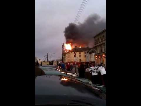 New Ross Apartments on Fire 20.01.2012