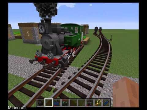 Minecraft - Rails of War mod, TRAINS!!!