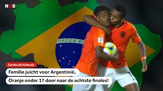 Familie juicht voor Argentinië, Oranje naar de achtste finales!   NOS Sport meets Oranje O17