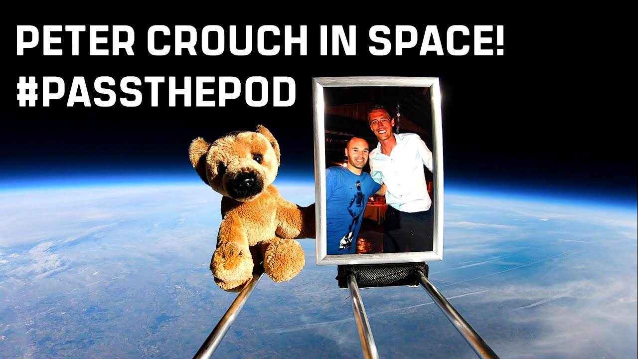 We sent That Peter Crouch Podcast into space to #passthepod