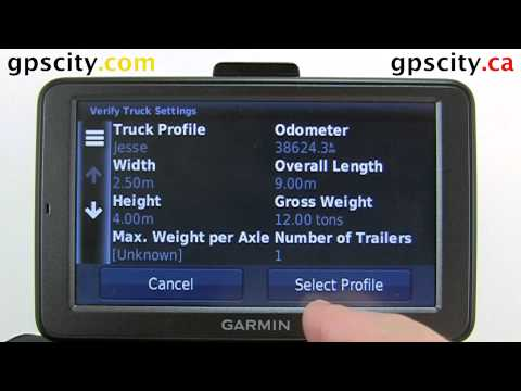 The Truck Profile On The Garmin Dezl 560 With GPS City Canada