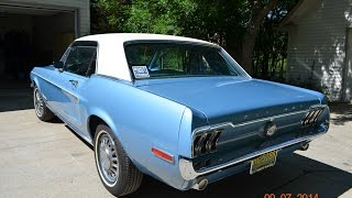 1968 Ford Mustang A/C nice survivor for sale auto appraisal Grand Blanc Michigan
