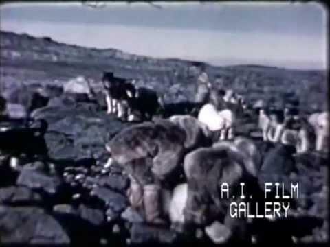 Eskimo summer activities Inuit groups, 1947