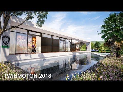 TWINMOTION 2018 RENDERING TUTORIALS#3 - POOL HOUSE - DAYLIGHT