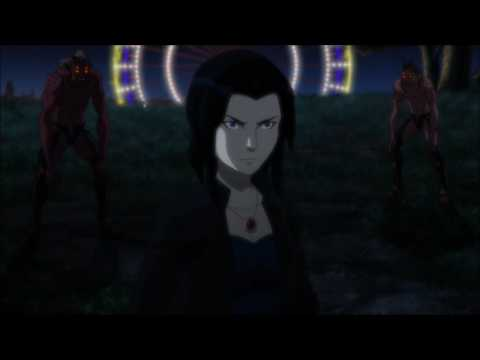 Raven talks with her father Trigon