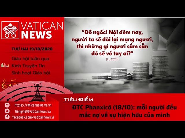 Radio: Vatican News Tiếng Việt thứ Hai 19.10.2020