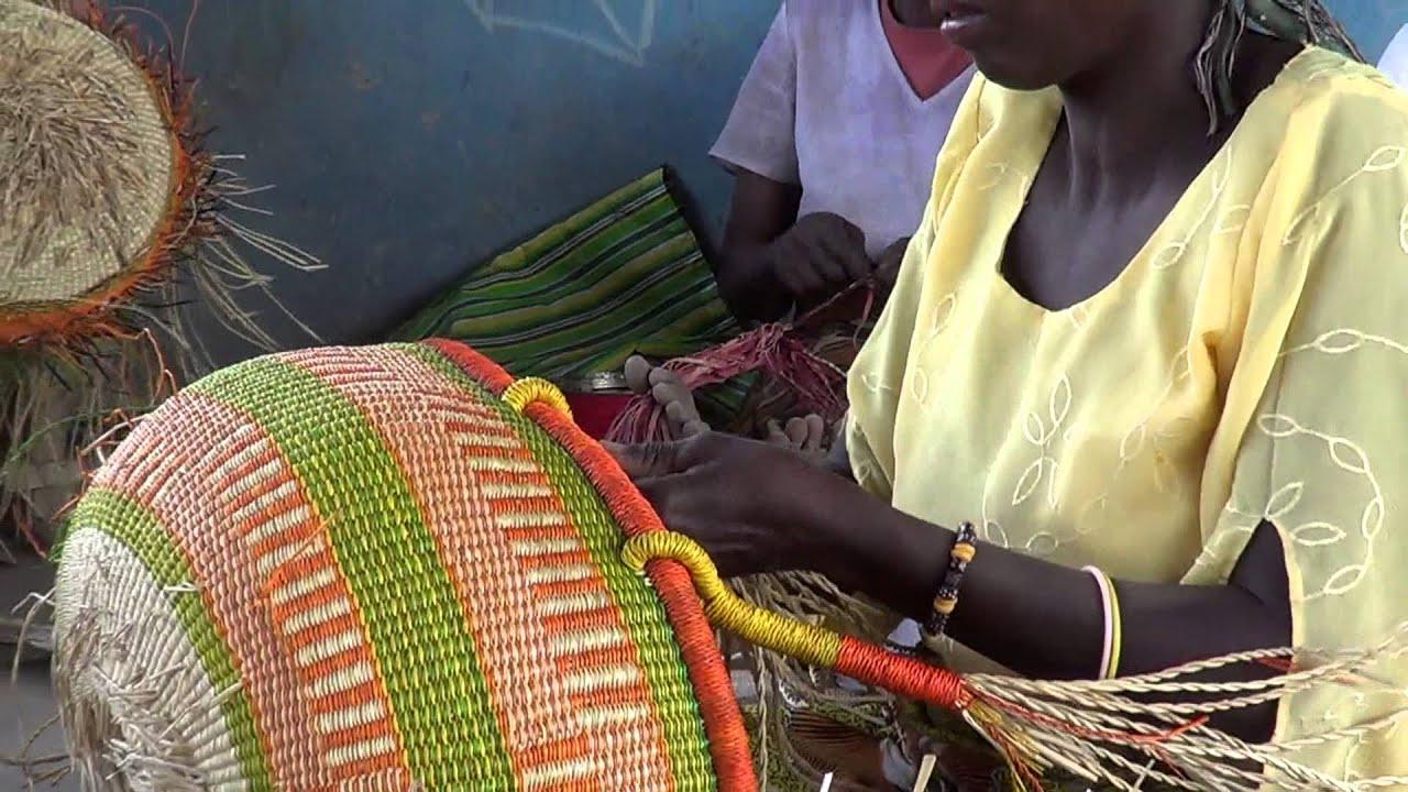 Basket Weaving Ghana : Ojoba basket weaving ghana