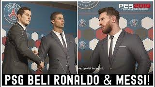 PES 2019 Master League Indonesia: Bisakah PSG Mendatangkan Cristiano Ronaldo & Lionel Messi?!