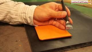 Creating stitching holes with Diamond Hole Punches - LEATHERCRAFT