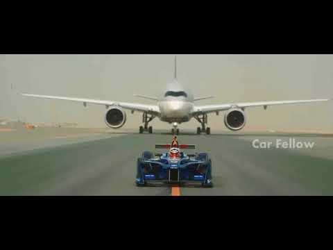 Car VS Plane -  Formula E car vs Qatar Airways Airbus A350 and Boeing 787 Dreamliner