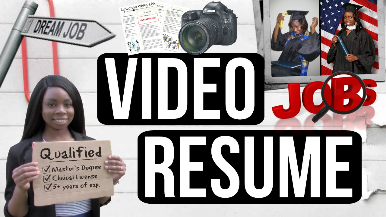 Funny Creative Video Resume Sample Video Cv Example Missdreeks Youtube