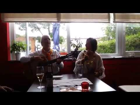 """1st International Day of Yoga""  Kirtan in a Greek Restaurant in Germany"