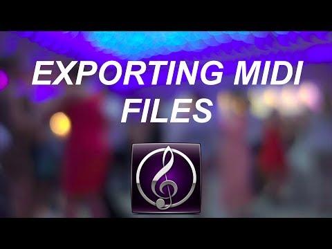 Sibelius 7 Exporting MIDI Files
