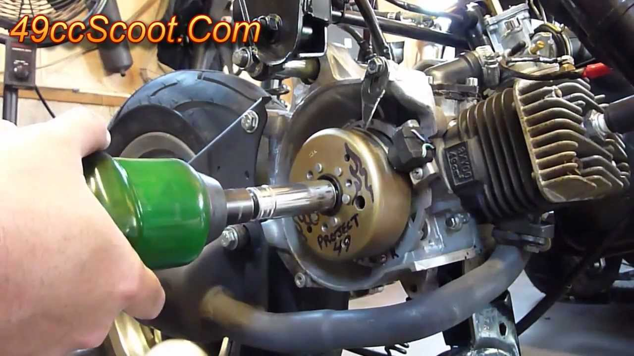 Scooter Flywheel Removal With The Proper Tools (Flywheel