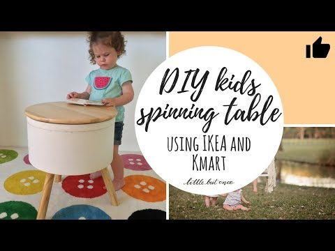 How to make a spinning kids play table: IKEA/Kmart Hack