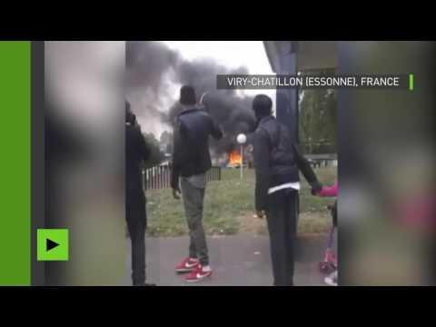 Essonne : des voitures de polices incendiées par des jets de cocktails Molotov
