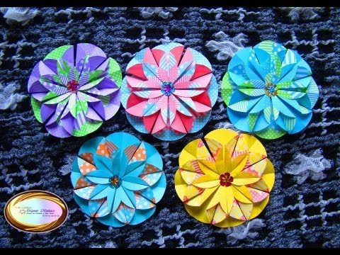 origami maniacs 100: dahlia flower - youtube