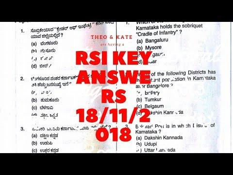 RSI key answers 18/11/2018