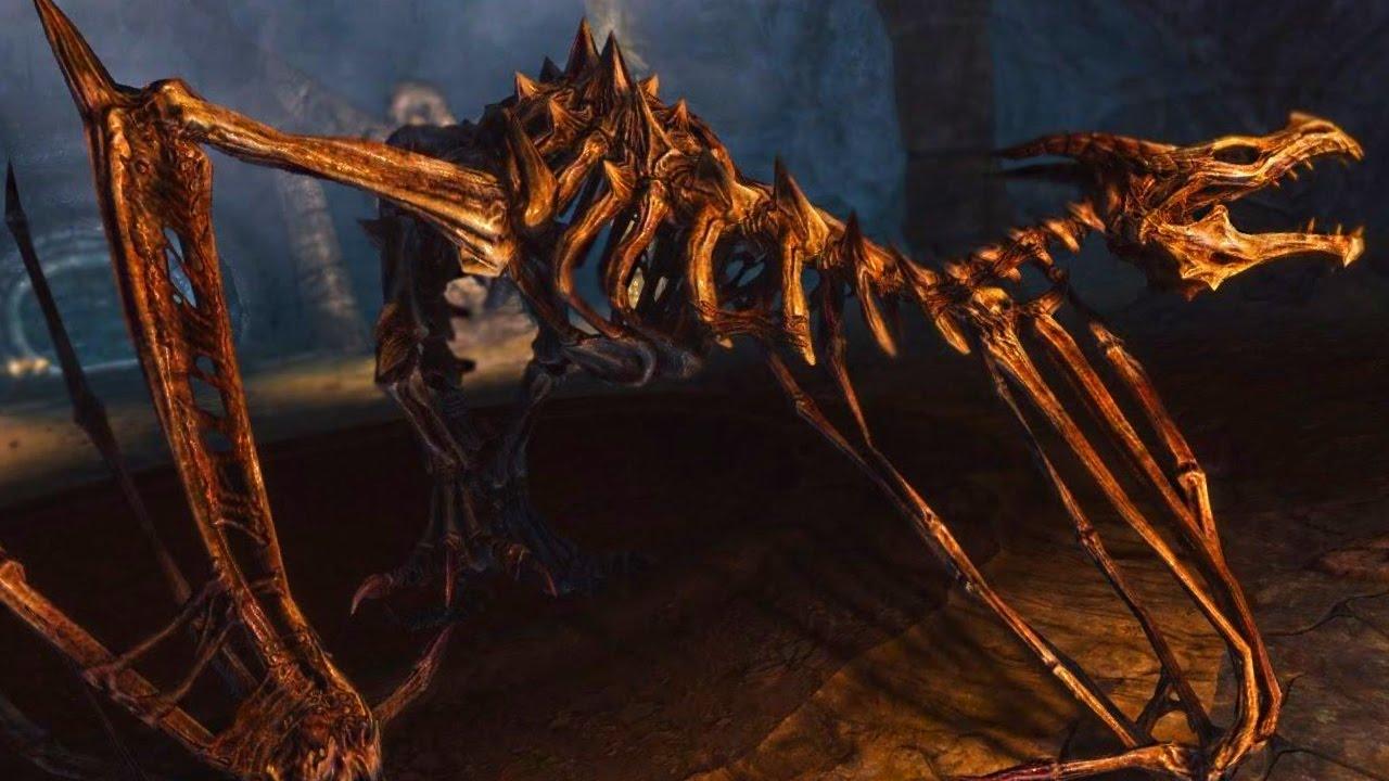 SKYRIM Special Edition: SKELETAL DRAGON Boss Fight ...