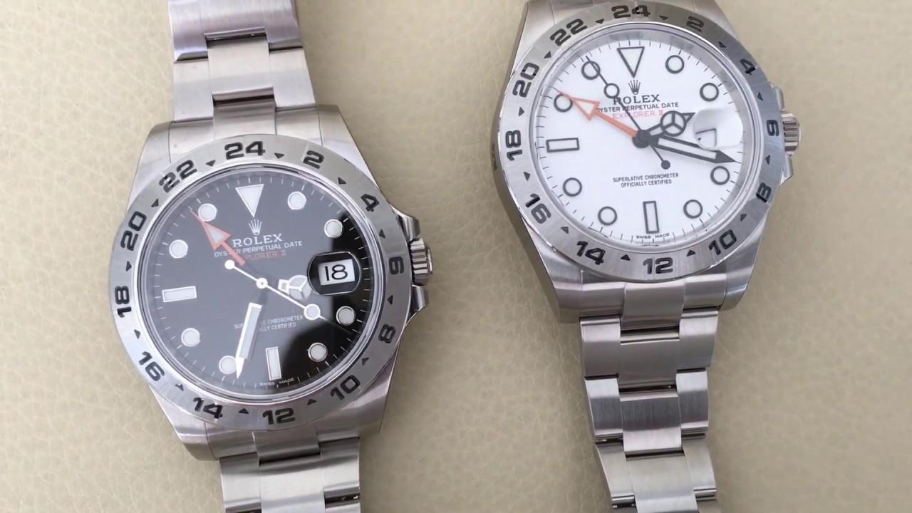 Rolex Explorer 216570 II White VS Rolex Explorer Black Dial 216570