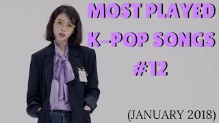 Top 50 Most Played K-Pop Songs Chart (January 2018)