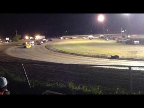 Factory Stock Feature part 1 Superbowl Speedway 4-8-17