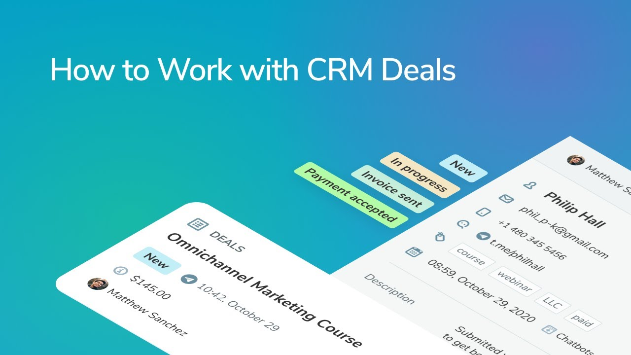 How to Work with CRM Deals