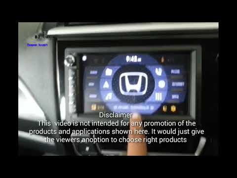 demo  car launcher  android head unit  honda brv youtube