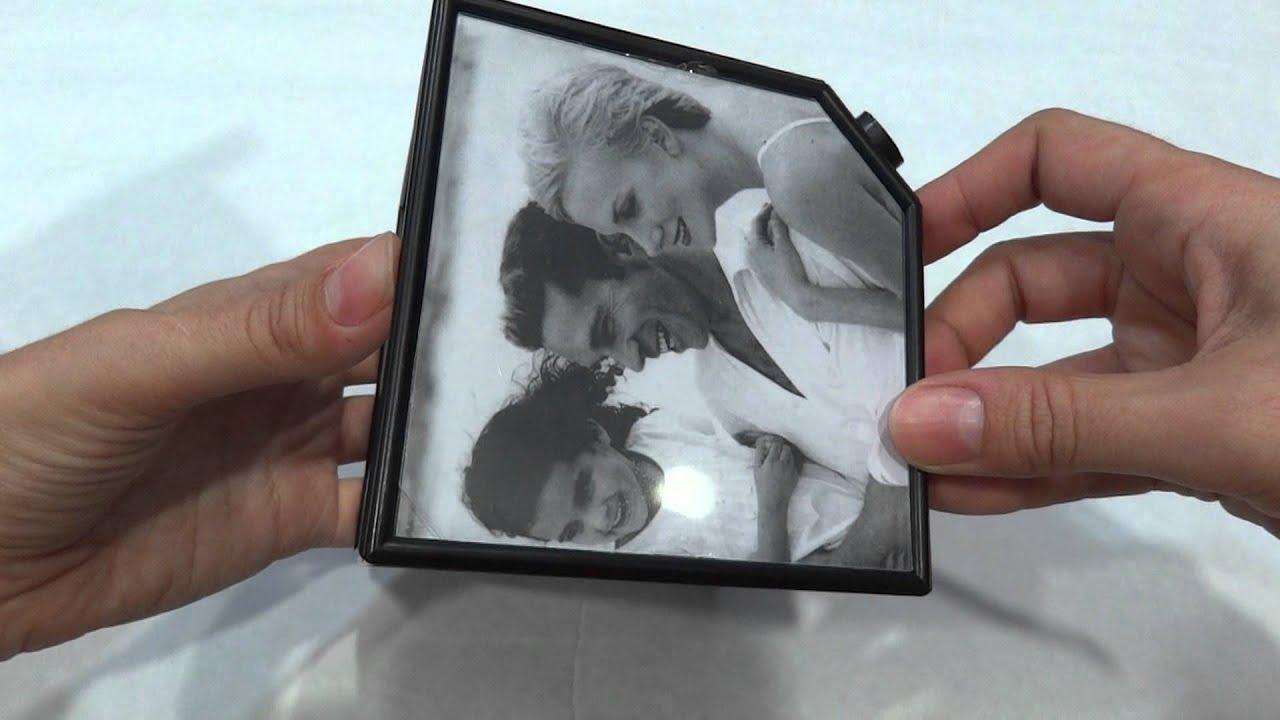 cubo foto marco giratorio 6 rotacion automatica album 360º cube ...