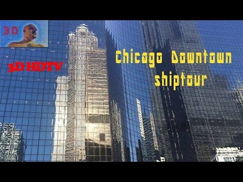 CHICAGO DOWNTOWN canal boat tour | 3D HDTV | FULL HD