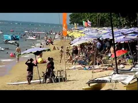 pattaya thailand jomtien beach just before christmas full HD 22.12.2012
