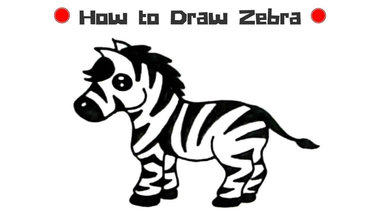 How to Draw a Zebra - Drawing Step by Step | Drawing ...