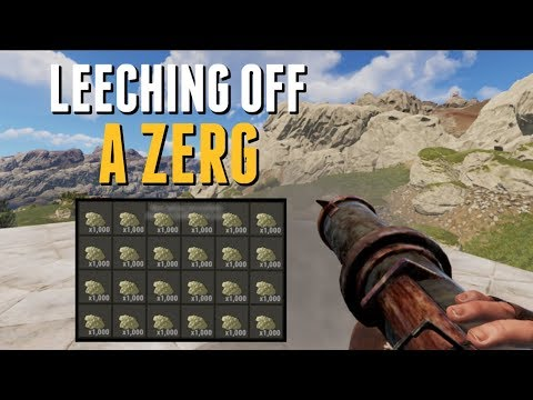 Rust | LEECHING OFF A ZERG thumbnail